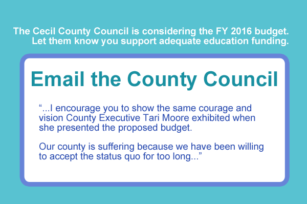 Letter to Cecil County Council