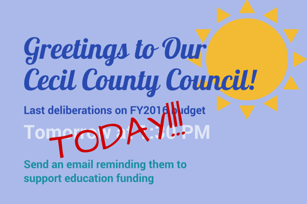 Greeting to Our Cecil County Council