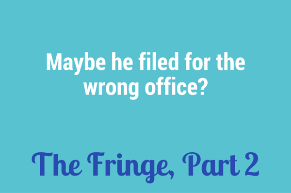 Maybe he filed for the wrong office