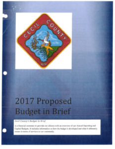 Cecil County FY 2017 proposed budget
